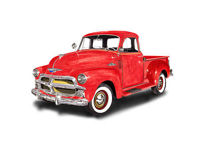 1955 Chevrolet 3100 Pick Up Truck Poster