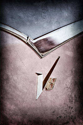 1955 Dodge Royal Lancer V8 Emblem Poster by Jill Reger