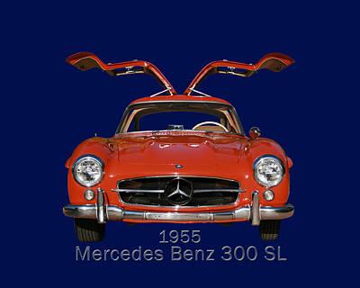 1955 Mercedes Benz 300 S L  Poster
