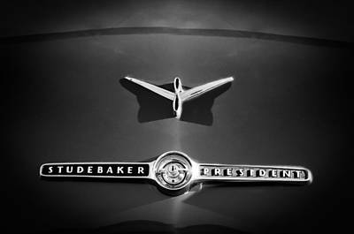 1955 Studebaker President Emblem Poster by Jill Reger