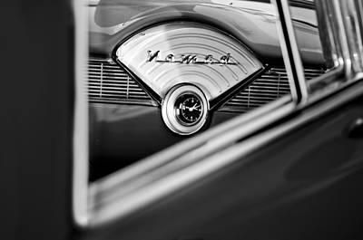 1956 Chevrolet Belair Nomad Dashboard Clock Poster by Jill Reger