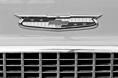 1956 Chevrolet Belair Nomad Grille Emblem Poster by Jill Reger