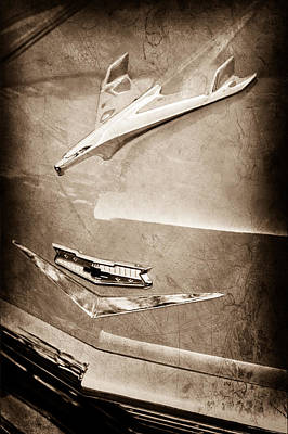 1956 Chevrolet Hood Ornament Poster by Jill Reger