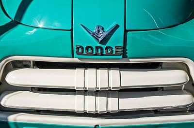 1956 Dodge Pickup Truck Grille Emblem Poster by Jill Reger