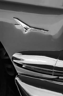 1956 Ford Fairlane Thunderbird Emblem Poster by Jill Reger