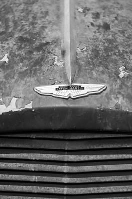 1957 Aston Martin Db2-4 Mk II Hood Emblem Poster by Jill Reger