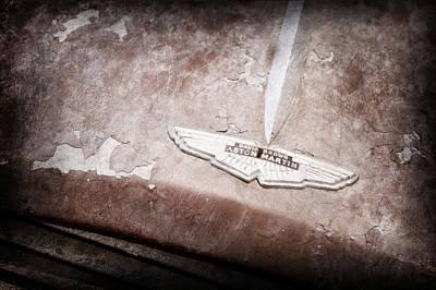 1957 Aston Martin Db2-4 Mkii Emblem Poster by Jill Reger