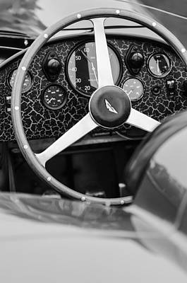 1957 Aston Martin Dbr2 Steering Wheel Poster by Jill Reger