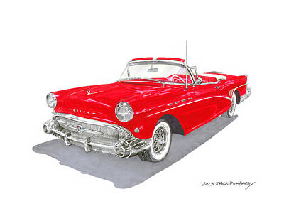 1957 Buick Special Convertible Poster by Jack Pumphrey