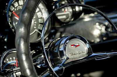 1957 Chevrolet Belair Steering Wheel Poster by Jill Reger