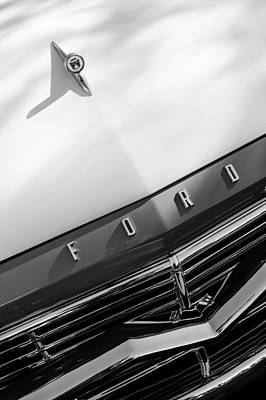 1957 Ford Custom 300 Series Ranchero Hood Ornament - Emblem Poster by Jill Reger