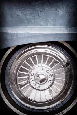 1957 Ford Fairlane Wheel Emblem Poster by Jill Reger