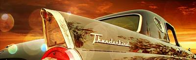 Poster featuring the photograph 1957 Ford Thunderbird  by Aaron Berg