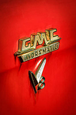 1957 Gmc Hydramatic V8 Emblem Poster