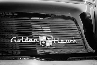 1957 Studebaker Golden Hawk Supercharged Sports Coupe Emblem Poster by Jill Reger