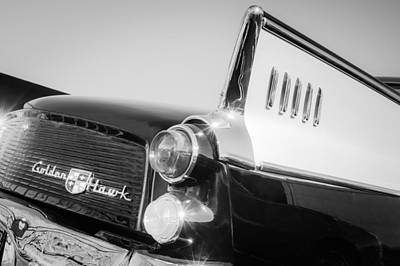 1957 Studebaker Golden Hawk Supercharged Sports Coupe Taillight Emblem Poster by Jill Reger