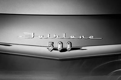 1959 Ford Fairlane 500 Emblem Poster by Jill Reger