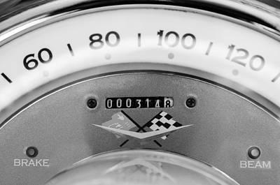 1960 Chevrolet Corvette Speedometer Poster