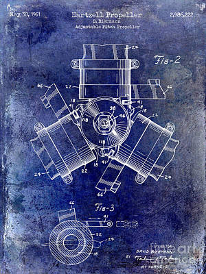 1961 Propeller Patent Drawing Poster