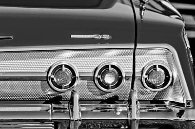 1962 Chevrolet Impala Ss Taillight Emblem Poster by Jill Reger