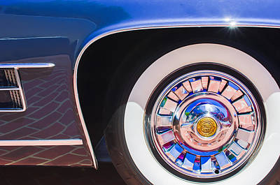 1962 Ghia L6.5 Coupe Wheel Emblem Poster by Jill Reger