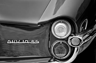 1963 Alfa Romeo Giulia Sprint Special Ss Taillight Emblem Poster