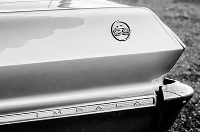 1963 Chevrolet Impala Ss Rear Emblem Poster
