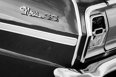 1963 Chevrolet Nova Convertible Taillight Emblem Poster by Jill Reger