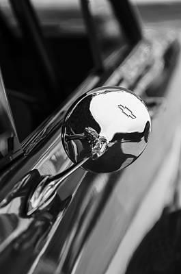 1963 Chevrolet Nova Rear View Mirror Emblem Poster by Jill Reger