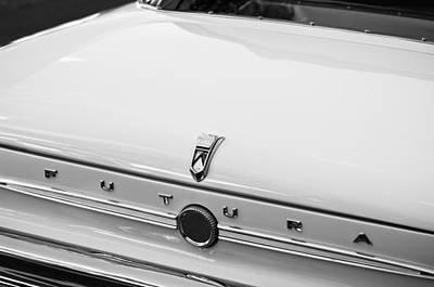 1963 Ford Falcon Futura Convertible  Rear Emblem Poster by Jill Reger