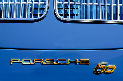 1963 Porsche 356 B 1600 Coupe By Karman Rear Emblem Poster