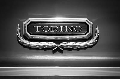 1965 Ford Torino Emblem Poster by Jill Reger