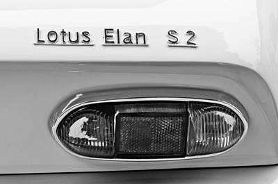 1965 Lotus Elan S2 Taillight Emblem Poster