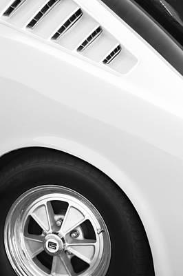 1965 Shelby Mustang Gt350 Wheel Emblem Poster by Jill Reger