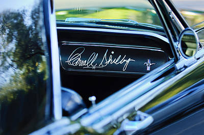 1965 Shelby Prototype Ford Mustang Carroll Shelby Signature Poster by Jill Reger