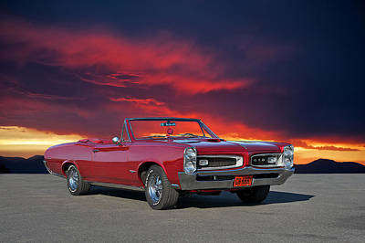 1966 Pontiac Gto Convertible Poster by Dave Koontz