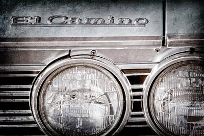 1967 Chevrolet El Camino Pickup Truck Emblem Poster