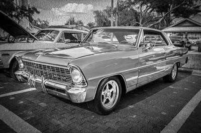 1967 Chevrolet Nova Super Sport Painted Bw    Poster by Rich Franco