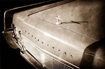1967 Lincoln Continental Hood Ornament - Emblem Poster