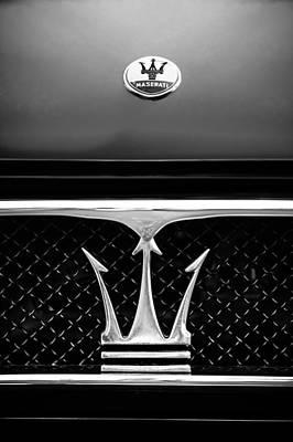 1967 Maserati Ghibli Grille Emblem Poster by Jill Reger