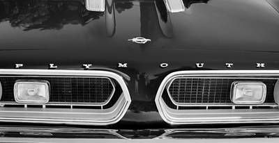 1967 Plymouth Barracuda Grille Emblem Poster by Jill Reger