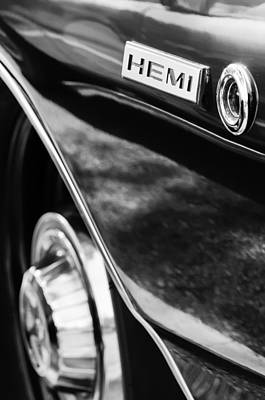 1968 Dodge Charger Rt Coupe 426 Hemi Upgrade Emblem Poster by Jill Reger