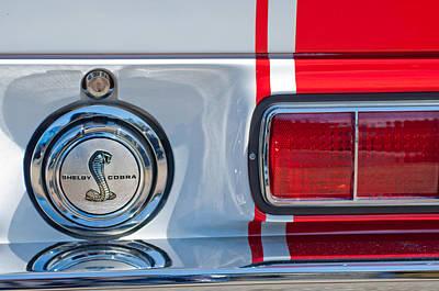 1968 Ford Mustang Fastback 427 Ci - Cobra Emblem Poster by Jill Reger