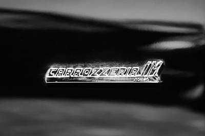 1968 Intermeccanica Italia Carrozzeria Im Torino Emblem Poster by Jill Reger