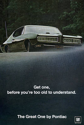 1968 Pontiac Gto Poster by Digital Repro Depot