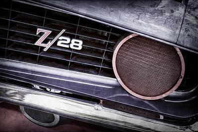 1969 Chevrolet Camaro Z28 Grille Emblem Poster by Jill Reger