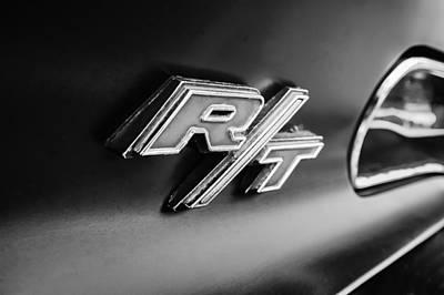 1969 Dodge Charger R-t Emblem Poster by Jill Reger