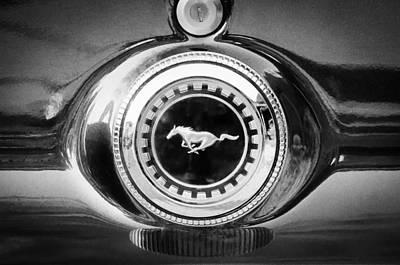 1969 Ford Mustang 302 Emblem Poster by Jill Reger