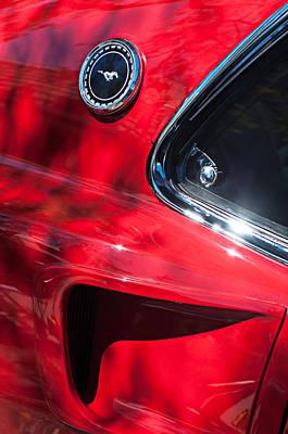 1969 Ford Mustang Boss 429 Sportsroof Side Emblem Poster by Jill Reger
