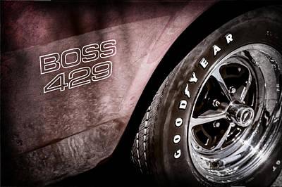 1969 Ford Mustang Boss 429 Sportsroof Side Emblem - Wheel Poster by Jill Reger